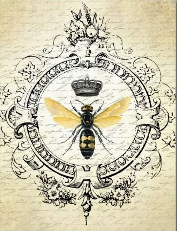 Vintage French bee ~ postcard