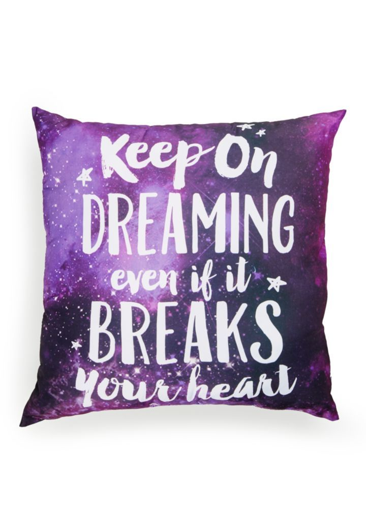 image of Keep On Dreaming Pillow Rue 21