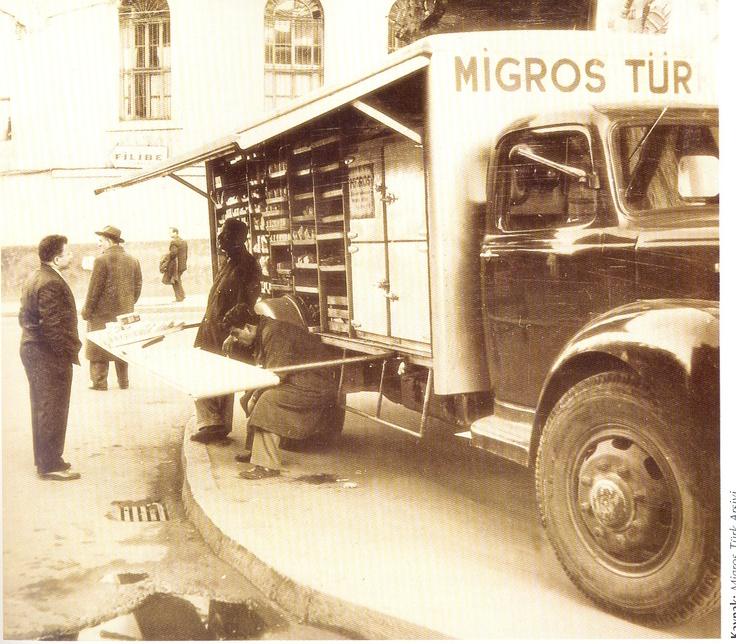 Migros kamyonları her yerdeydi :)