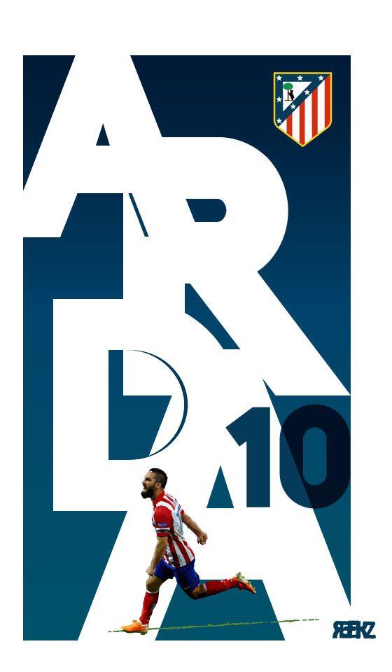 Arda Turan - Atlético de Madrid player / digital illustration