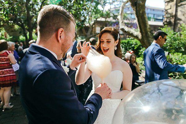 cotton candy wedding ideas - photo by Lara Hotz http://ruffledblog.com/australian-restaurant-wedding