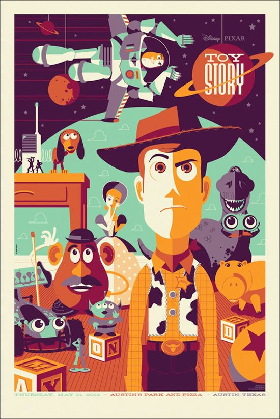 Toy Story - Mondo Poster.  For both Dad and I.  We used to recite every line of this movie together...clearly watched it too much.  This would be perfect - and still cool enough for mom to put up in the living room.