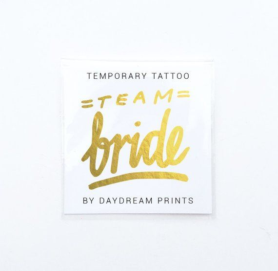 Team Bride tattoo, Bridesmaid box, bridesmaid proposal, gold bridesmaid gift, pop the question, wedd