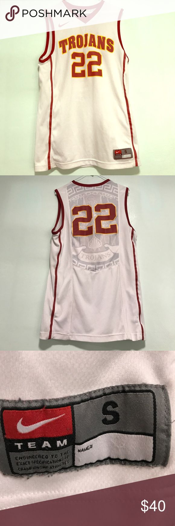 USC Trojan Basketball Jersey Adult Small USC Trojan Basketball Jersey Adult Small USC Shirts Tank Tops