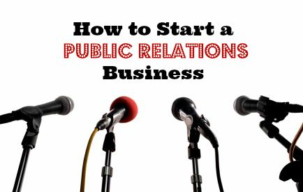 how to start a pr business from home