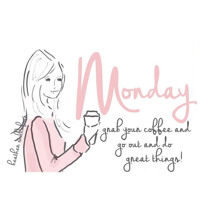 Monday ☕️💋 grab your #coffee and go out and do great things! #mondaymorning #mondaymotivation #illustration ☕️