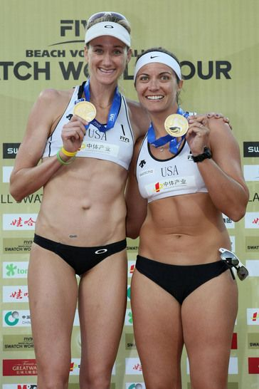 Kerri Walsh and Misty May-Treanor. Add Around The Rings on www.Twitter.com/AroundTheRings & www.Facebook.com/AroundTheRings for the latest info on the Olympics.