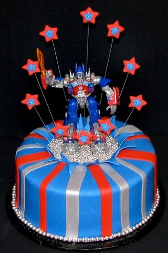 Optimus Prime Cake Food Birthday Pinterest Optimus