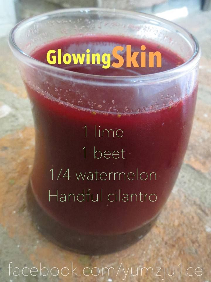 Glowing skin juice - watermelon is high in water content and very hydrating to the skin...Drink up!