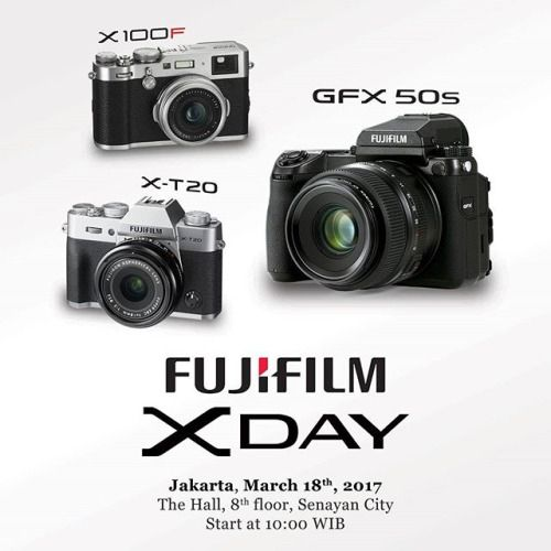 Come and join us to the fujifilm xday event! And be one of the first one to touch and try the fujifilm GFX50S  X100F and X-T20! Theres also photography exhibition and special offer for our new product. Be there and dont miss it! Today 18th March 2017 At The Hall 8th floor Senayan City Start at 10.00 WIB GFX50S will be open for public at 18.00 WIB #fujifilmxday #GFX50S #xt20 #x100f #GoFujifilm #fujifilm_id via Fujifilm on Instagram - #photographer #photography #photo #instapic #instagram…
