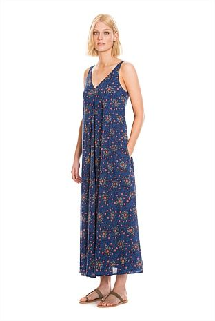 Printed Voile Maxi country road