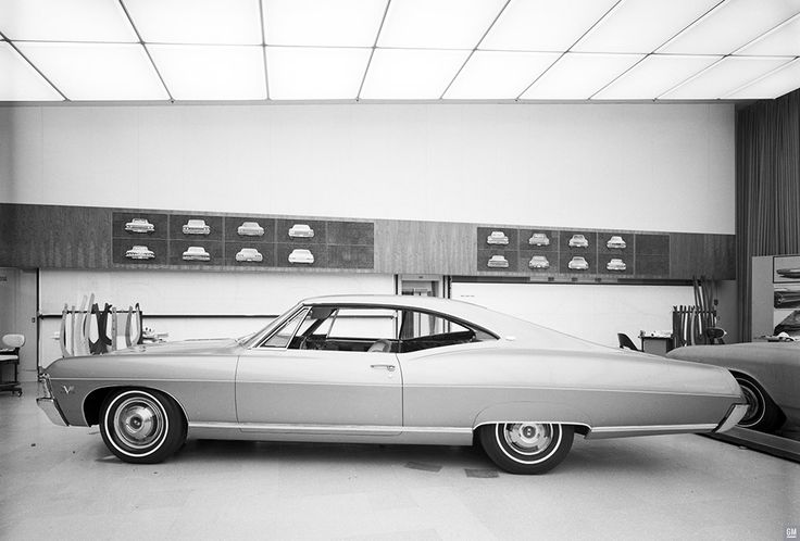 The Chevrolet Studio team was continuing to work on details of the new Impala Coupe into early 1966. Fiberglass models like this Impala were used to sort out many detailed design issues as well as early advertising photography and briefings for dealers.