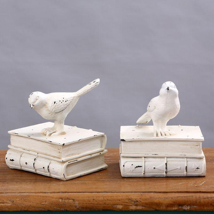 Pássaro Retro falso suportes para livros estante estudo europeu criativo artesanato enfeites de decoração para casa em Decorações para sapato de Sapatos no AliExpress.com   Alibaba Group