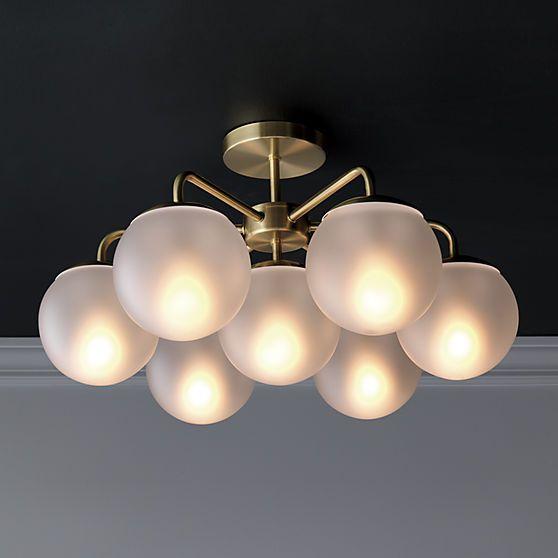 Vega brushed brass flush mount l& & 38 best images about lighting on Pinterest | Chandeliers Pendant ... azcodes.com