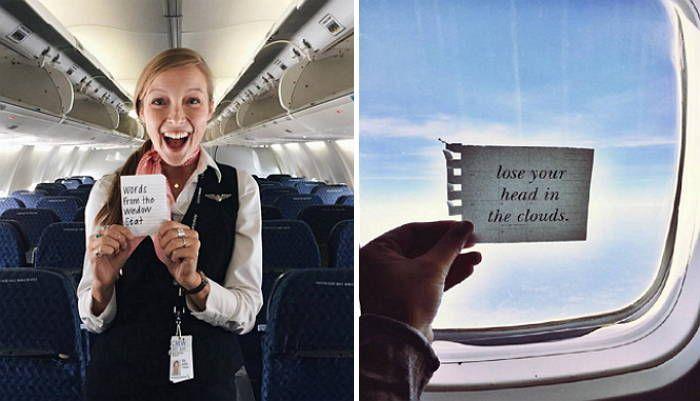 비행기 승객들에게 몰래 쪽지 전한 미녀 '승무원' (사진)