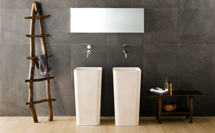 DUO  by Matteo Thun & Antonio Rodriguez: Monolith with ground drain or wall drain. #wellness, #bathroom, #monoliths, #design, #madeinitaly, #stone,