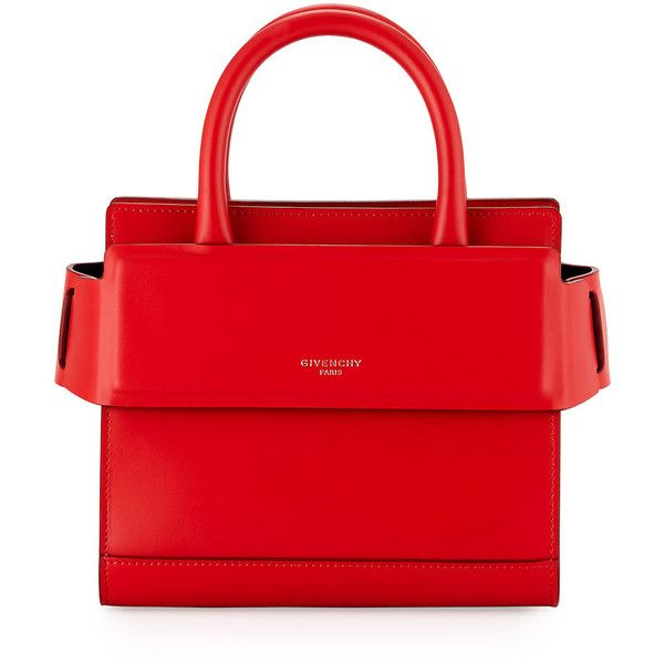 Givenchy Horizon Nano Smooth Crossbody Bag ($1,390) ❤ liked on Polyvore featuring bags, handbags, shoulder bags, red, crossbody handbags, red handbags, givenchy, red crossbody purse and givenchy handbags