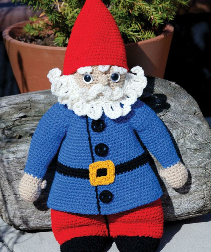 Gnorbert the Gnome Free Crochet Pattern from Red Heart Yarns