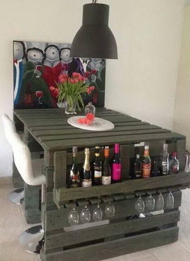 pallet tables Archives - Craft Storage Ideas - Craft Room Storage: Unique Solutions – Pallet Table w/Side Pocket