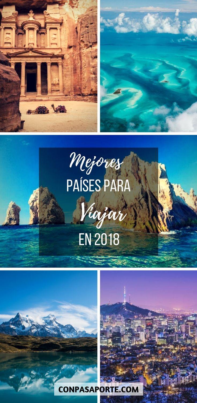 Los Mejores Países para #viajar en 2018. Recomendaciones e inspiración para #viajes por parte de Lonely Planet, Tripadvisor, National Geographic, y muchos más! #travel #travelblogger #inspiration #naturephotography #city #argentina #chile #jordan #caribbean #mexico