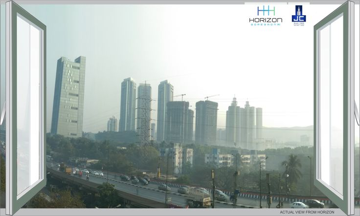 Skyscrapers and highways always have some dramatic #ViewFromMyWindow. Enjoying the gossips and the speed of the city that never sleeps at #Horizon by #JayceeHomes at #Goregaon-E.   #Horizon #JayceeHomes #Jaycee #SkyScrapers #Morning #Wednesday #PinIt #ViewFromMyWindow #Best #Shot #Calm