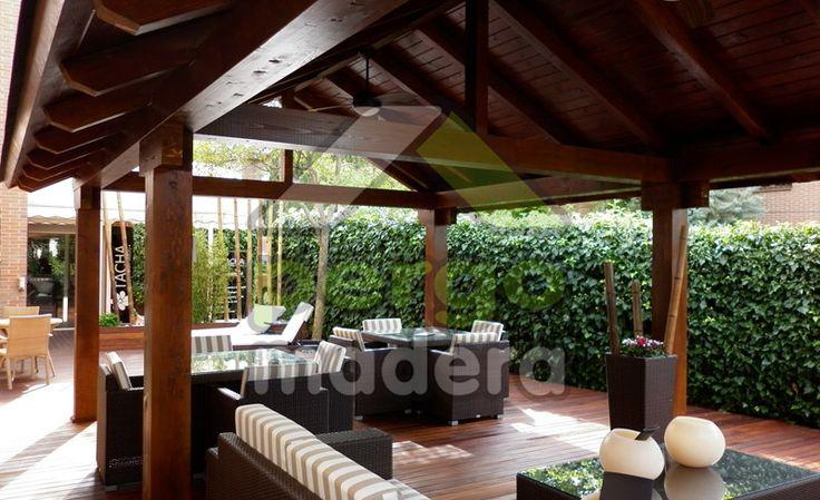 Porches de madera de exterior o acristalados su porche de - Porche de obra ...