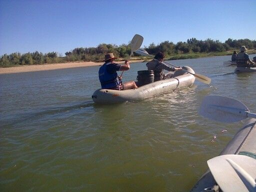 Canoe trip on the Orange River. That was a lot of fun and sore arms afterwards.