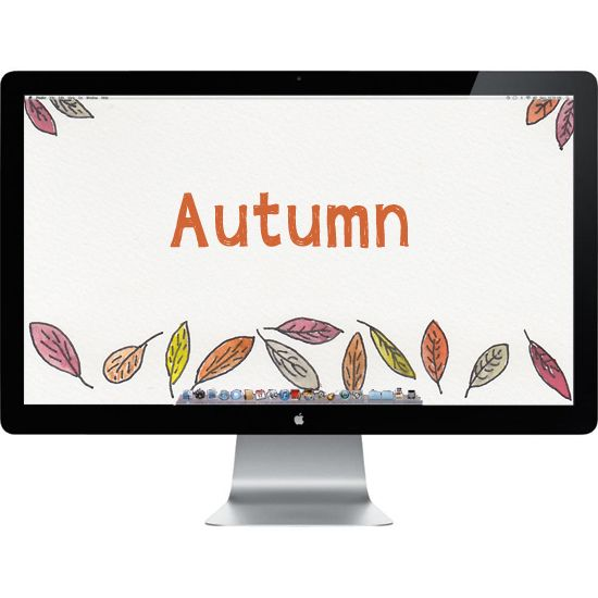 The spirit of it all, Autumn watercolor inspired computer background wallpaper.