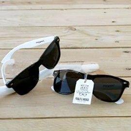 Detalles de Boda Para Mujeres y Hombres - Gafas de sol para bodas negras