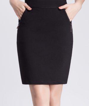 f990af537d New Black Zipper Pocket Formal Skirts in 2019