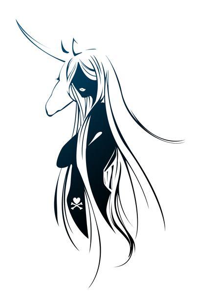 Needs work, but love the idea... Last Unicorn - Tokidokified by Foayasha.deviantart.com