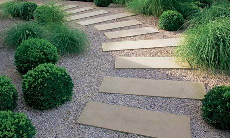 Best 25 stepping stone walkways ideas on pinterest for Hard landscaping ideas