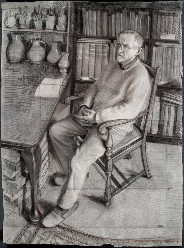 Toby Wiggins 'Dr. Martin Green' portrait drawing pencil charcoal chalk on paper