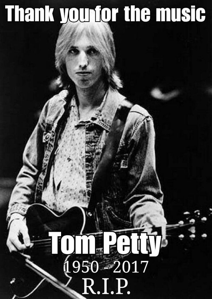 Rest in Peace Tom Petty... Thank you for sharing your music with us.