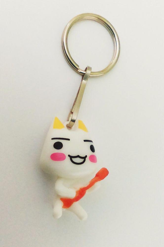 Cute Anime cat playing guitar funny white kawaii Toro Inoue sony Doko Demo Issyo #Unbranded