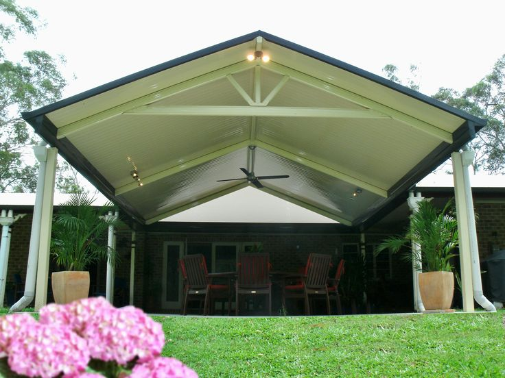 Panorama Patios installed gable roof patio http://www.panoramapatios.com.au #patio #outdoorliving #queensland #stratco