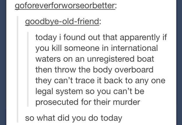 14 Tumblr Users Who May Or May Not Be Planning A Murder