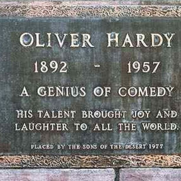 Oliver Hardy: Died in a drowning accident at 65. He is buried in the Valhalla Memorial Park Cemetery, CA