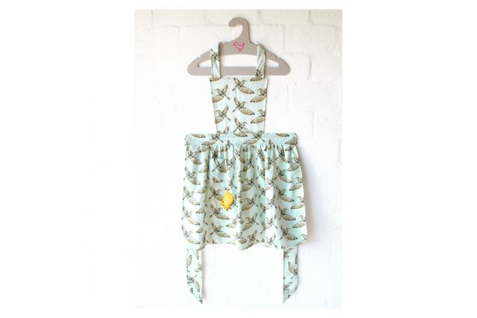 Fly Away Birds Vintage Apron by handmade by me