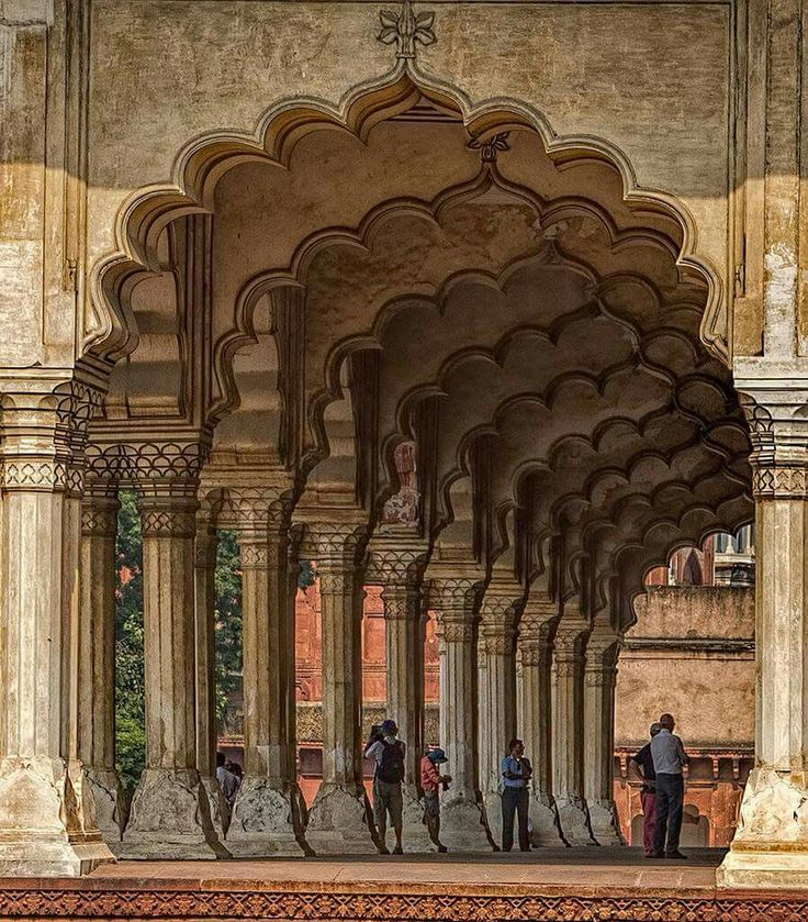 Red Fort Agra India.  CORRECTION -- the Red Fort is in DELHI. This is probably a pic of Fatehpursikri, Agra