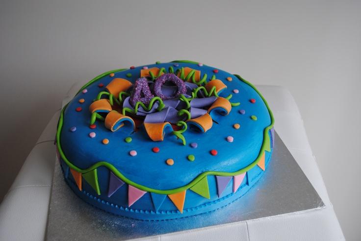 Happy Bday 40 jaar taart