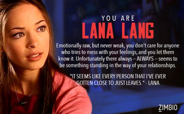 I took Zimbio's personality quiz, and I'm Lana Lang! Who are you?