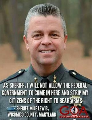 Good sherff and friend thinks for defending the rights of the citizens.....EVEN SHERIFF LEWIS GET'S IT.....GOOD FOR HIM.....THIS IS WHY I'M VOTING FOR TRUMP PEOPLE.......HE WANTS TO SAVE OUR [OUR] COUNTRY AND IT'S PEOPLE.......NOT THE DAMN PARTY....GET IT NOW.?.......AND HE BELIEVES IN THE 2ND AMENDMENT WHICH I DO TOO.......VOTE TRUMP PEOPLE.......LIKE YOUR LIFE DEPENDS ON IT.....BECAUSE IT DOES.