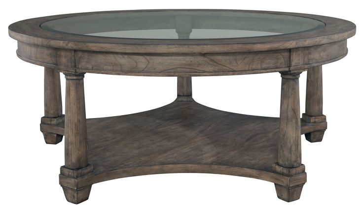 Lincoln Park Weathered Gray Round Coffee Table