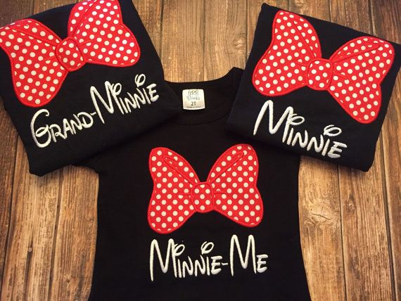 Custom matching family Disney shirts by LittleChickiesClips