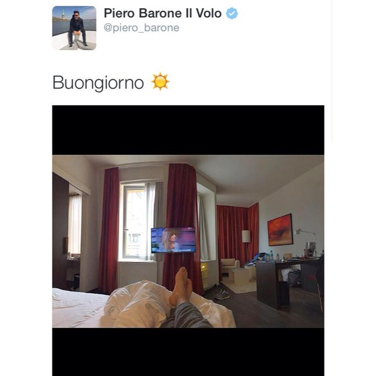 Piero's sexy feet at his hotel in Vienna.