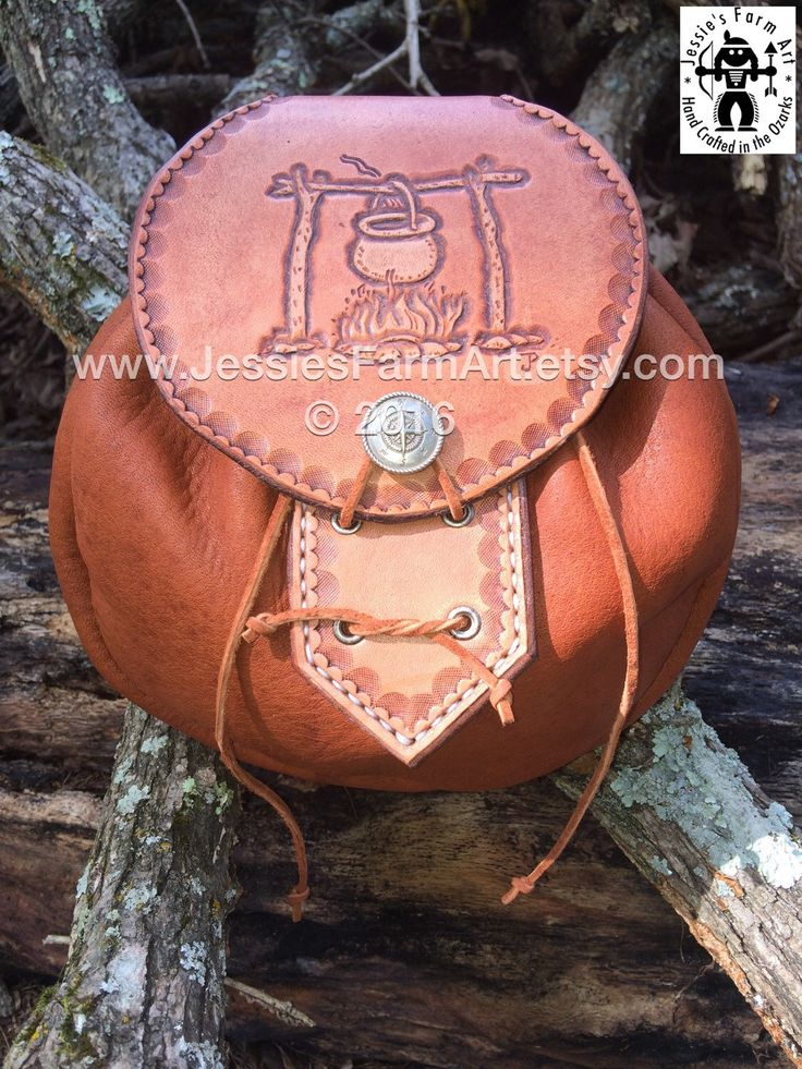 Elkskin Leather Possibles Pouch Hand Tooled Campfire Cooking. Mountain Man Belt Bag Bushcraft Sporran Deer Antler Backpacking Rob Roy by JessiesFarmArt on Etsy https://www.etsy.com/listing/478884477/elkskin-leather-possibles-pouch-hand