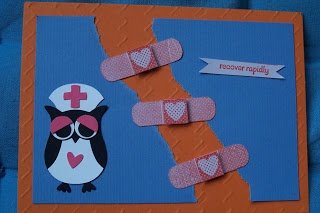 Stampin'up recover rapidly SAB2013 patterned occasions owl builder punch nurse itty bitty framelits bigshot sizzix beterschap/verpleegster