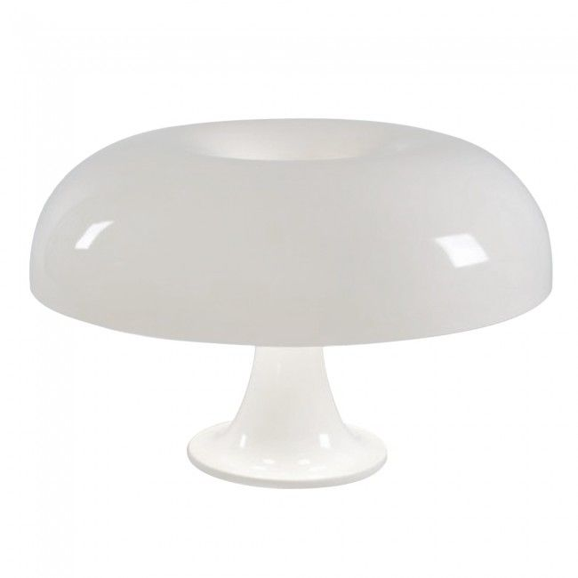 Retro Giancarlo Mattioli 'Nesso' Style Table Lamp in White