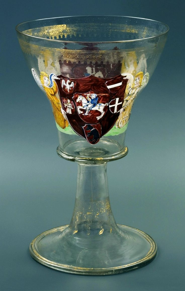 A goblet belonging to Alexander Jagiellon with the heraldic symbols of the Grand Duchy of Lithuania by Anonymous from Venice, ca. 1501-1502, Muzeum Uniwersytetu Jagiellońskiego (MUJ)
